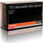 salon services disposable latex gloves pack of 100 – small