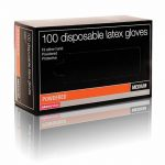 salon services disposable latex gloves pack of 100 – large