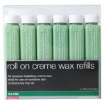 salon services roll on creme wax refill tea tree pack of six 80g