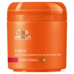 wella professionals enrich moisturising treatment mask for fine hair 150ml