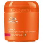 wella professionals enrich moisturising treatment mask for fine hair 150ml