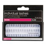 salon services individual lashes black medium