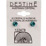 crystallite green diamond cut ear studs 5mm