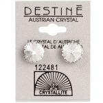 crystallite extra large rivoli ear studs 11mm