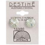 crystallite extra-large green rivoli ear studs 11mm