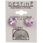 crystallite extra-large violet rivoli ear studs 11mm
