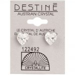 crystallite heart-shaped ear studs 8mm