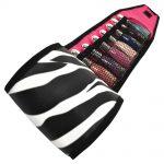 roo zebra nail polish storage roll