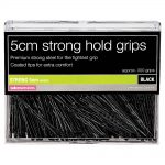 salon services strong 5cm black hair grips pack of 300