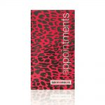 salon services agenda leopard print appointment book pink