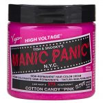 manic panic semi permanent hair colour – cotton candy pink 118ml