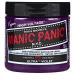 manic panic semi permanent hair colour – ultra violet 118ml