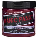 manic panic semi permanent hair colour – rock 'n' roll red 118ml
