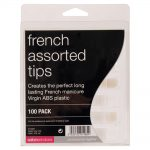 salon services french tips assorted pack of 100