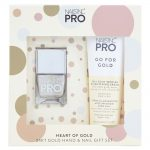 nails inc pro heart of gold 24k gold hand & nail gift set