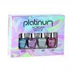 morgan taylor platinum collection nail polish mini 4 pack multi-colour 4 x 5ml