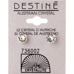 crystallite clear medium ear studs 7mm