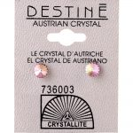 crystallite pink extra small ear studs 4mm