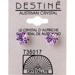 crystallite violet extra-large ear studs 8mm